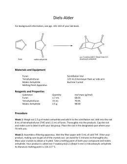 The Diels-Alder Reaction of Anthracene with Maleic Anhydride