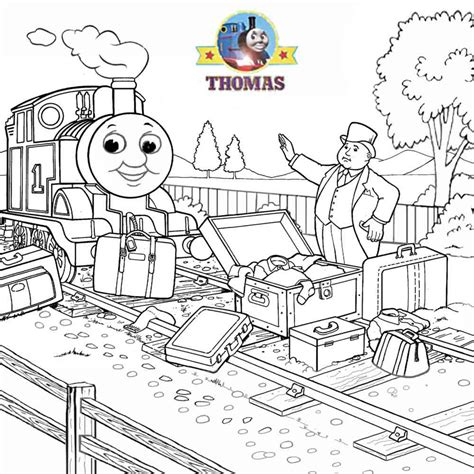 salty train coloring page thomas the tank engine percy face thomas free engine