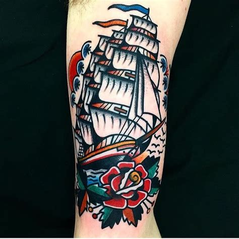 nautical rose tattoo 17 best ideas about traditional ship on