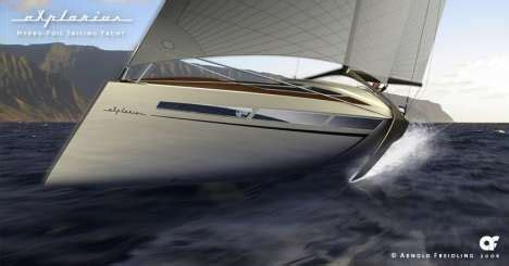 hydrofoil yacht design 24 wind powered transportation designs that blow you away