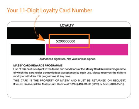 Loyalty Card Terms And Conditions Template by Massy Loyalty