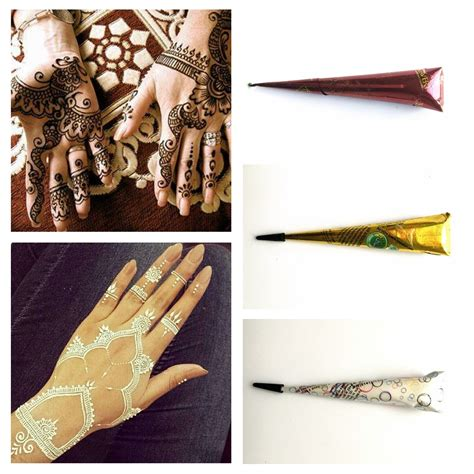 henna tattoo cones 1pc 3 color pigment indian waterproof henna cones