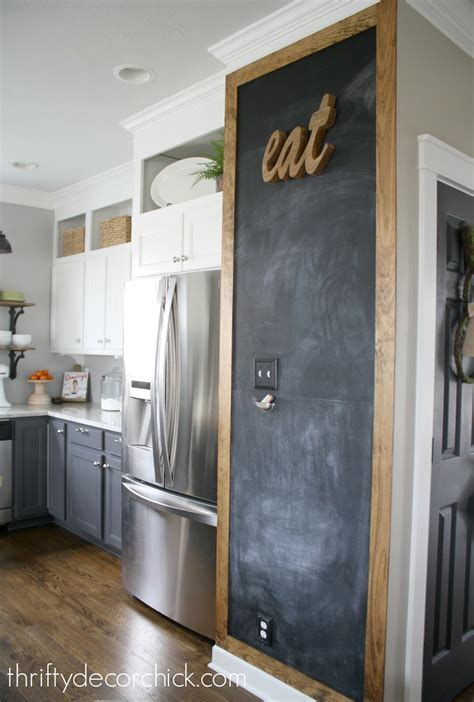 chalkboard kitchen wall ideas adding some rustic charm to the kitchen from thrifty decor