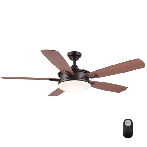 rubbed bronze ceiling fan home decorators collection daylesford 52 in led indoor