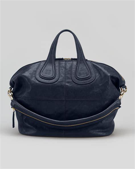 Givenchy Nightingale by Givenchy Nightingale Medium Satchel Bag Navy In Blue Navy