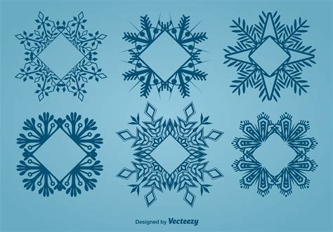 decorative snowflake shaped frames   vector art stock graphics images