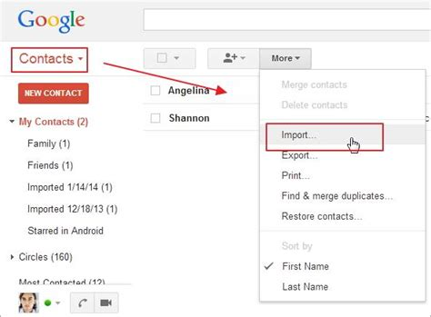 how to import contacts from gmail to android easily import export contacts to from the android phone