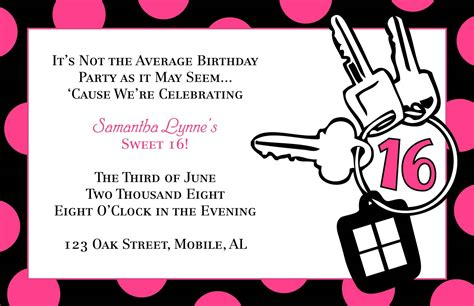 Sweet 16 Invitation Quotes Quotesgram Sweet Sixteen Invitations Templates