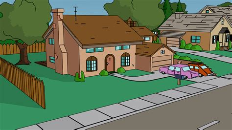 haus der simpsons kostenlose illustration fanart simpsons haus comic