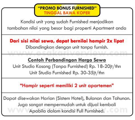 Promo Tas Wanita Unit apartemen osaka pik 2 studio start from 198jt promo