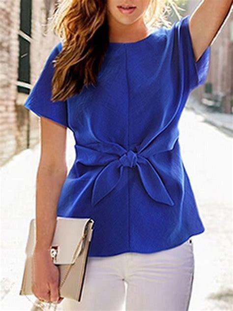 Sy Vita Kimono blue sleeve tie front blouse fashionista
