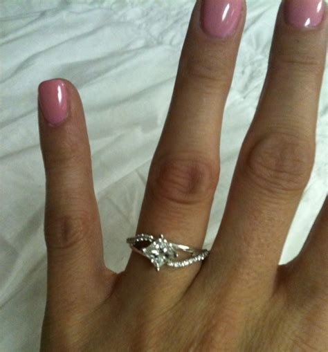 barkev engagement ring style 7717lw princess cut twisted