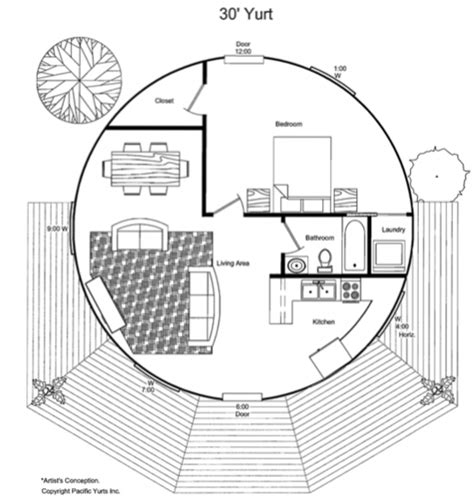 Yurt Floor Plans Interior by Sample Possible Floor Plan For The Largest Pacfic Yurt