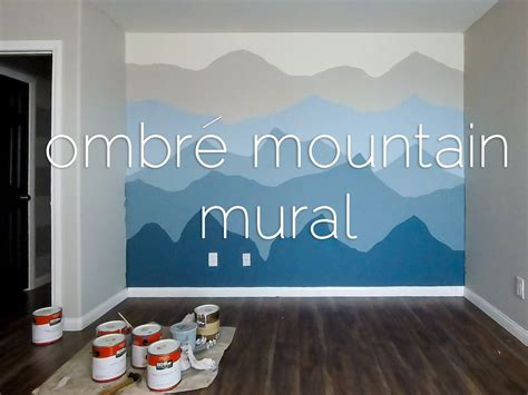 mountain wall murals ombr 233 mountains mural time lapse