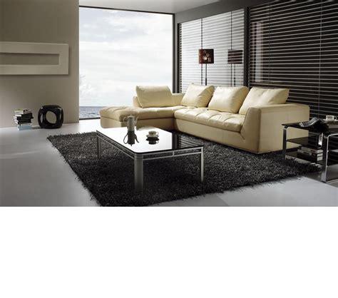 green leather sofa 833 dreamfurniture bo3959 modern beige leather sectional