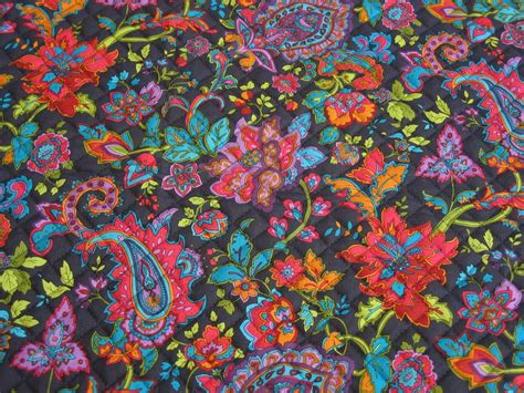 Pre Quilted Fabric Patterns by Bright Florals And Paisley Pre Quilted Fabric From Fabri Quilt