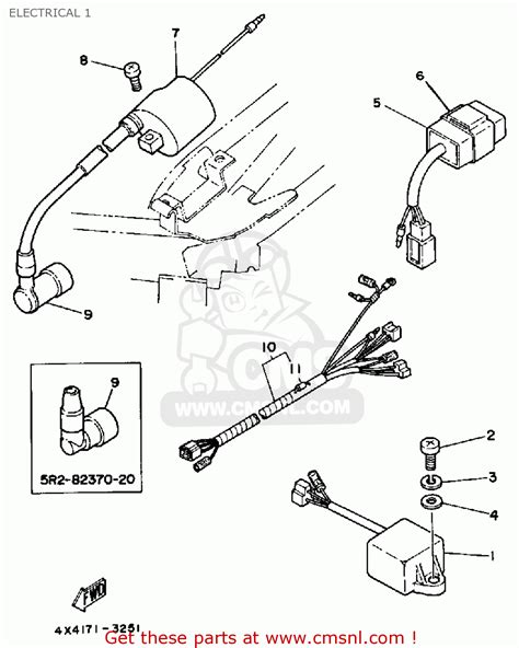 yamaha pw50 1986 g usa electrical 1 schematic partsfiche