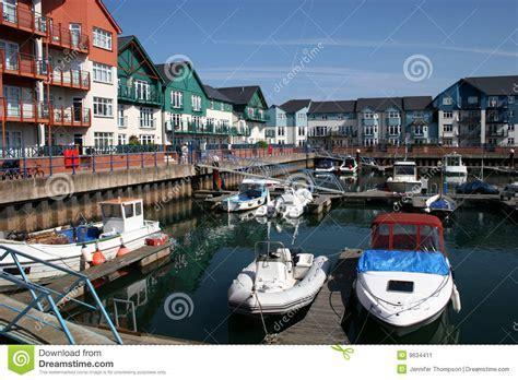 boat mooring exmouth exmouth marina stock image image of church england