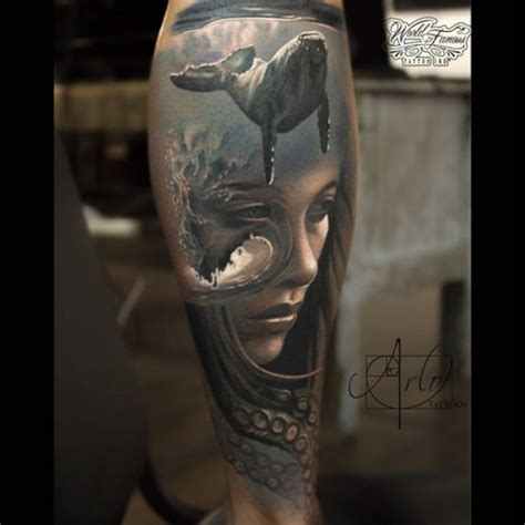 new school realism tattoo abstract ocean realism tattoo best tattoo ideas gallery