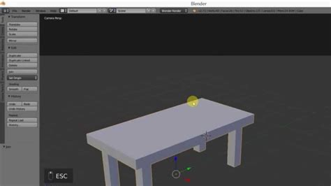 tutorial blender table barebone basics blender 3d modeling modeling a table