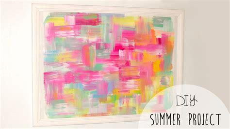 Diy Painting 1 diy easy room decor abstract wall