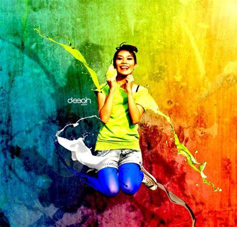 tutorial edit foto gpp fresh colorful photo manipulation dengan photoshop