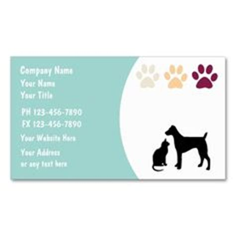 animal card templates 1000 images about animal pet care business card templates