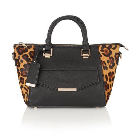 lotus bags lotus handbags calice black matt leopard print leather