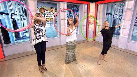 kathie lee gifford exercise video weekend warrior workout put your hula hooping skills to