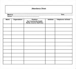 sheet template word attendance sheet template word besttemplates123