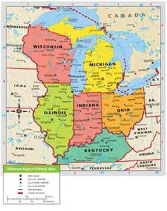 map of the midwest region of the united states map of midwest region map travel holidaymapq