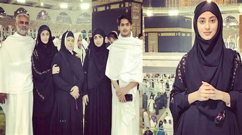 sajal ali family sajal ali and her sister saboor ali performed umrah with