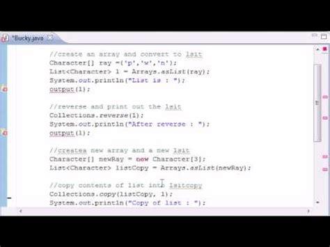 java tutorial on collections intermediate java tutorial 11 collections methods fill