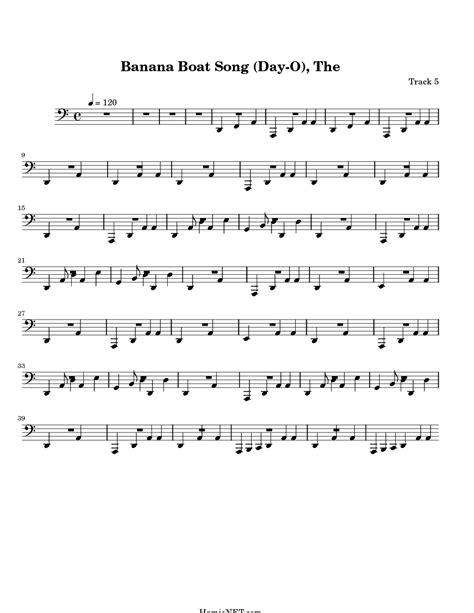 banana boat song notes for violin the banana boat song day o sheet music the banana boat