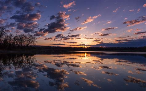 sunrise hd wallpapers lake forest dark clouds