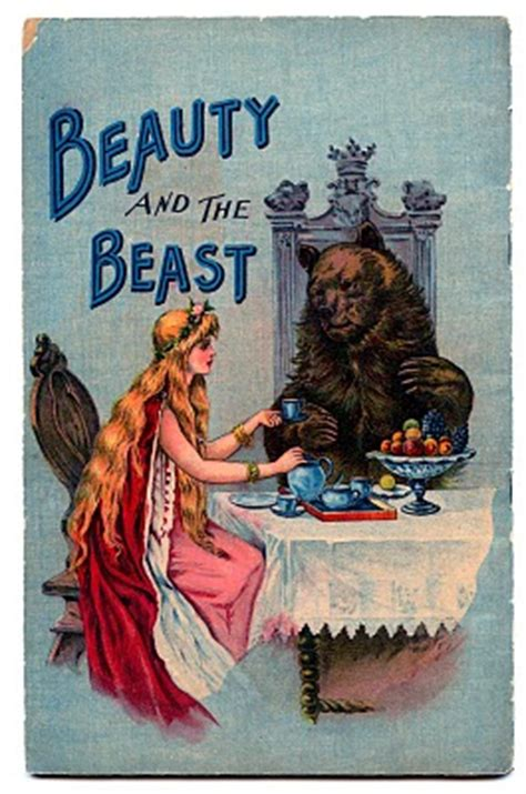vintage fairy tale clip art beauty   beast