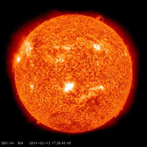 Solar Flare Lights Nasa Earth Directed Solar Flare