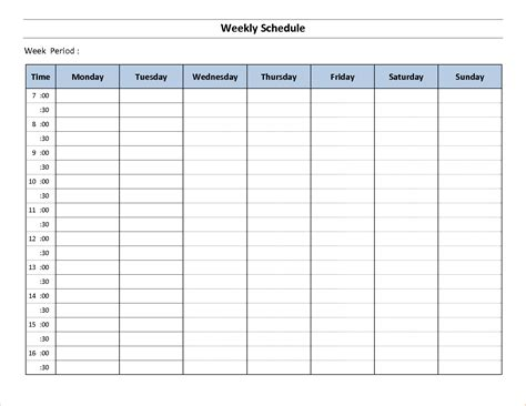 weekly schedule template 10 free weekly schedule template memo formats