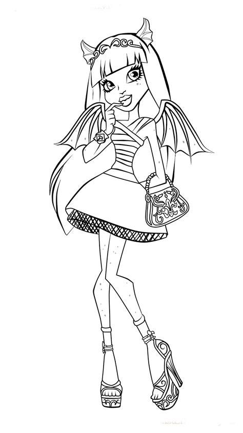 Monster High Desenhos Para Pintar E Colorir High Colouring Pages