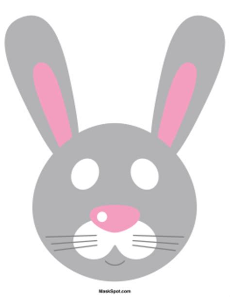 printable hare mask rabbit mask template there is also a coloring page