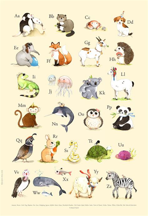 abc wall abc poster abc abc print abc animals