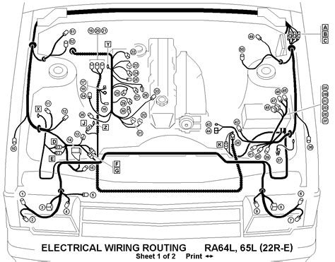 1985 toyota 22r wiring diagram get free image about