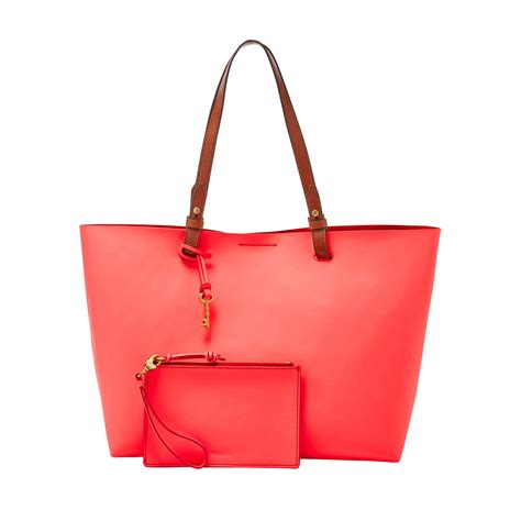 New Fossil Prt Tote Bag In Bag fossil zb6817281 tote bag in pink lyst