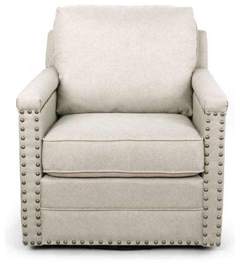 Glider Armchair by Fabric Swivel Glider Armchair With Bronze Nail