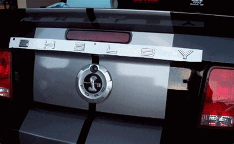 Shelby Gt500 Trunk Letter Template Decal Shelby Lettering Template