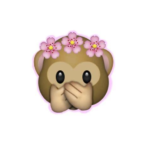 emoji edits wallpaper emoji monkey flower crown edit poster monkey flower