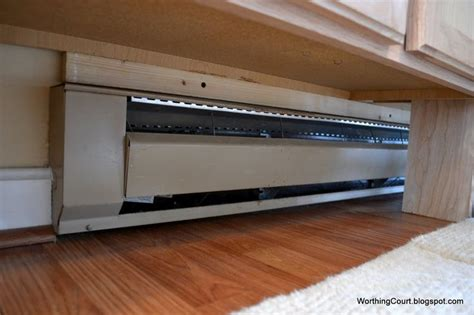under kitchen cabinet heating work around baseboard heating for the home pinterest