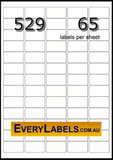 Label Template 65 Per Sheet Printable Label Templates Mini Labels Template