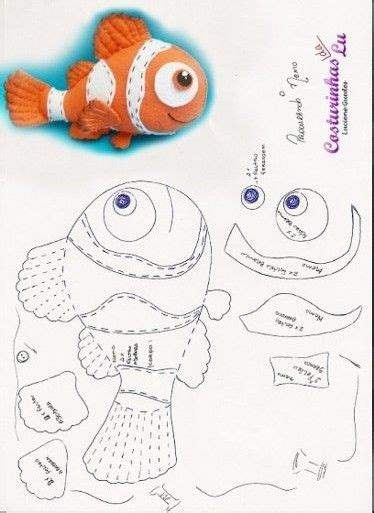 moldes de peces facilisimocom las chorradikas de laury patr 243 n pez nemo e fieltro