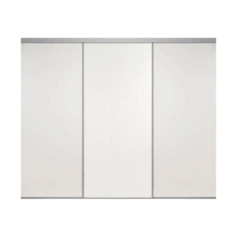 Impact Plus Closet Doors Impact Plus 90 In X 84 In Smooth Flush Primed Solid Mdf Interior Closet Sliding Door With